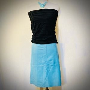 Bebe Leather Pencil Skirt Light Blue EUC